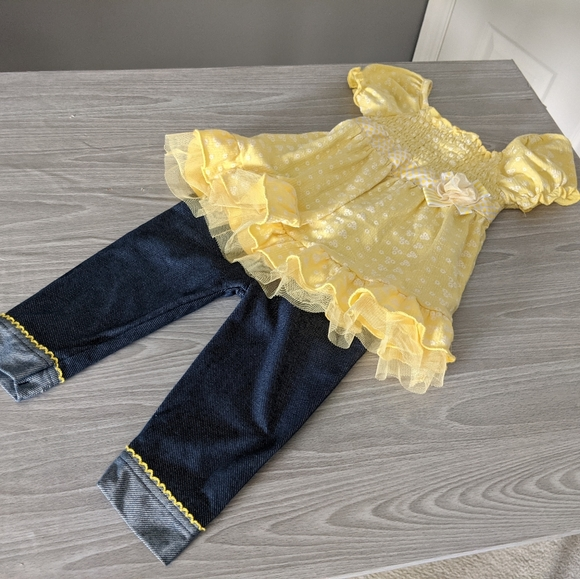 Little Lass Matching Top and Pants Outfit Size 24m